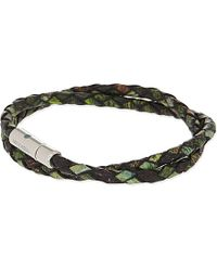 Tateossian | Green Xxv Anniversary Scoubidou Nature-print Bracelet - For Men for Men | Lyst