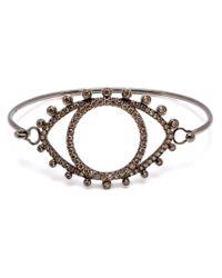Rosa De La Cruz - 18kt Oxidised Gold And Brown Diamond Eye Bracelet - Lyst