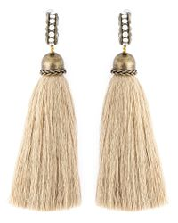 Lanvin | Natural Tassel Earrings | Lyst
