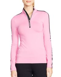 Lauren by Ralph Lauren - Pink Performance Jersey Pullover - Lyst