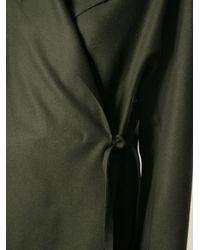 Acne Studios - Green Tie Coat - Lyst