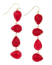 Kendra Scott | Pearcut Fourdrop Earrings Pink | Lyst