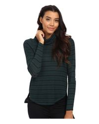 Free People - Green Drippy Striped Thermal Pullover - Lyst