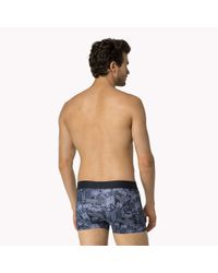 Tommy Hilfiger - Blue Stretch Cotton Trunk for Men - Lyst