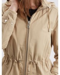 Jaeger Natural Curved Hem Hooded Parka