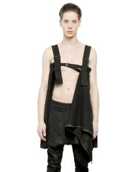 Julius Black Ribbed Alpaca Sweater for men