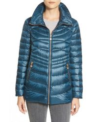 Bernardo - Packable Down & Primaloft Jacket, Blue - Lyst