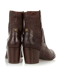 Frye Brown Lucinda Leather Boots