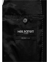 Neil Barrett Black Heat Sealed Lightning Bolt Tuxedo Jacket for men