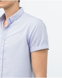 Zara | White Poka Dot Print Shirt for Men | Lyst