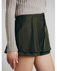 Free People Green Womens Mountaineer Skort