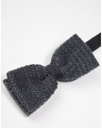 Minimum - Gray Knitted Bow Tie for Men - Lyst