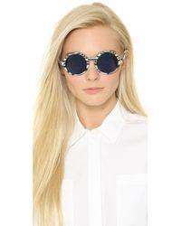 Sunettes Gray Italy Sunglasses - Horn/dark Grey