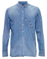 Miharayasuhiro - Blue Denim Shirt for Men - Lyst