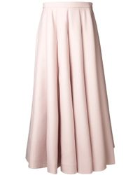 Valentino | Pink Long Pleated Skirt | Lyst