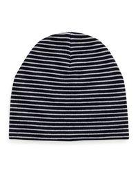 Tory Burch - Blue Reversible Wool Beanie Hat - Lyst