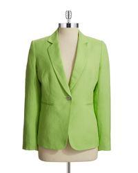 Tahari | Green Linen-blend Blazer | Lyst