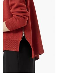 Mango - Red Essential Cotton-blend Sweater - Lyst
