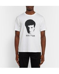 Undercover White Ian Curtis Printed Cotton-jersey T-shirt for men