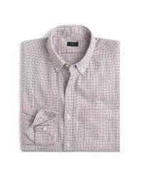 J.Crew Purple Slim Brushed Twill Shirt In Bayridge Tattersall for men