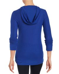 MICHAEL Michael Kors | Blue Embellished Hooded Shirt | Lyst