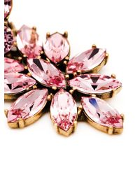 Oscar de la Renta | Pink Bold Teardrop Crystal-embellished Clip-on Earrings | Lyst