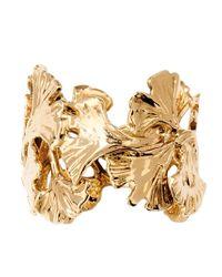 Aurelie Bidermann Metallic Ginkgo Ring
