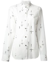Ann Demeulemeester Blanche - White 'Flock' Shirt - Lyst