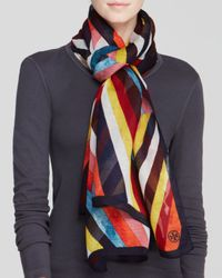 Tory Burch - Multicolor Diamond Oblong Scarf - Lyst