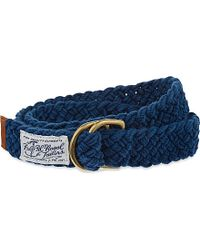 Pink Pony - Blue Fabric Belt for Men - Lyst