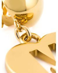 Moschino - Metallic Heart Clip On Earrings - Lyst