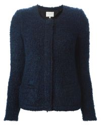 IRO - Blue Fitted Tweed Jacket - Lyst