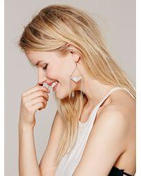 Free People | Metallic Geo Drip Earring | Lyst