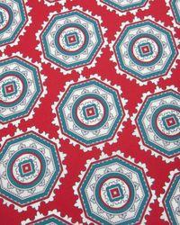 Ted Baker - Red Tile Print Silk Scarf for Men - Lyst