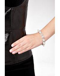 Eddie Borgo - Metallic Silver Crystal Encrusted Pave Cone Bracelet - Silver - Lyst