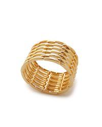 Kenneth Jay Lane Metallic Open Link Bracelet - Gold