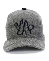 Moncler Gray Knit Baseball Cap for men