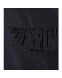 Jil Sander Black Frilled Shift Dress