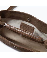 Zara | Brown Suede Messenger Bag | Lyst