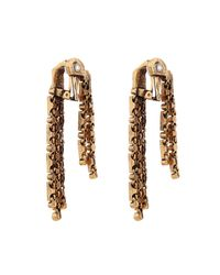 Oscar de la Renta | Metallic Cry Gold-Plated Earings | Lyst