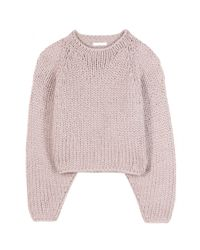 Chloé Pink Cropped Sweater