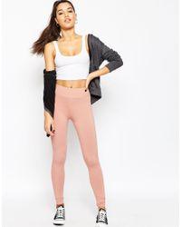 ASOS Pink Leggings With Deep Waistband