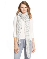 The Kooples | White Handcuff Print Scarf | Lyst