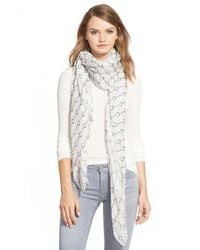 The Kooples - White Handcuff Print Scarf - Lyst