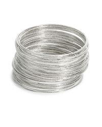 ABS By Allen Schwartz | Metallic Silvertone Bangle Set | Lyst