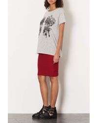 TOPSHOP - Red Maternity Texture Tube Skirt - Lyst