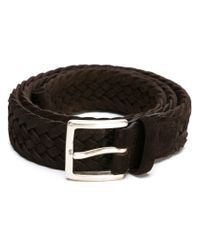 Orciani - Brown Braided Buckle Belt for Men - Lyst