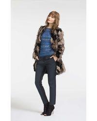 Karen Millen Blue Jacquard Tailored Trouser