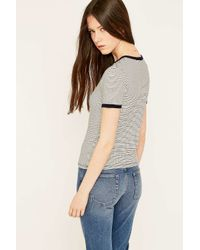 Truly Madly Deeply Blue Girls Navy Striped Ringer T-shirt