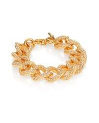 Michael Kors - Metallic Brilliance Statement Pavé Toggle Bracelet/Goldtone - Lyst